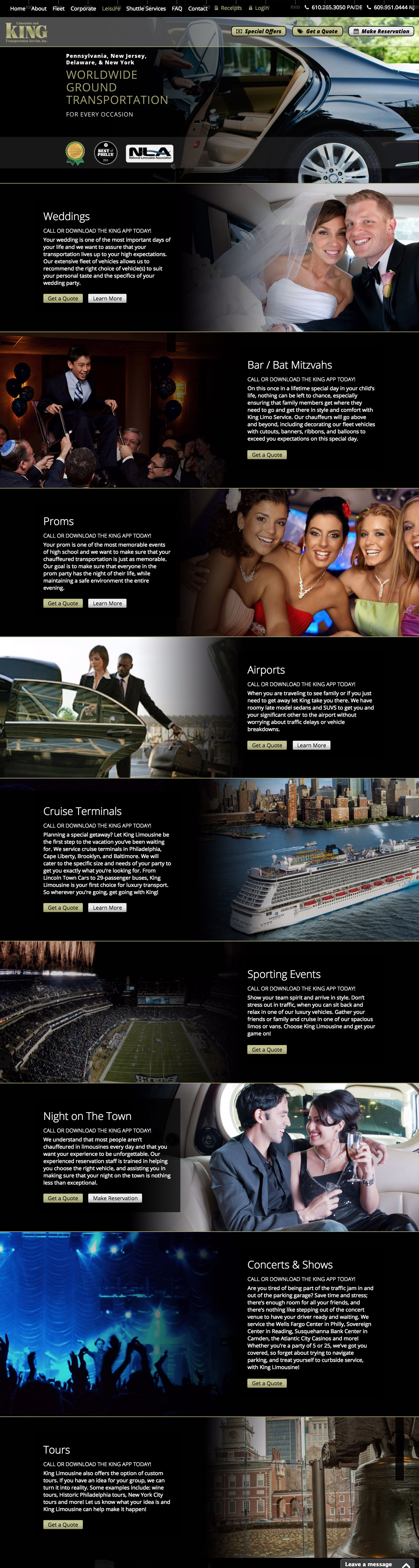Limo Web Design Philadelphia & Marketing Agency by Nexvel®