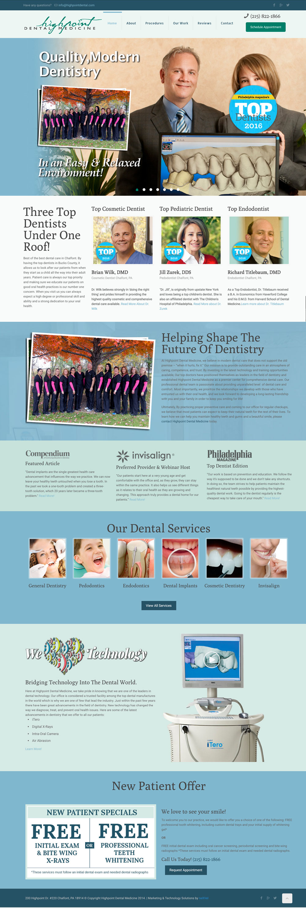 Highpoint Dental Web Design Philadelphia